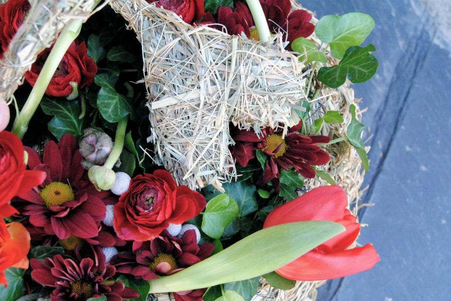 Decoración rojo boda mayula flores