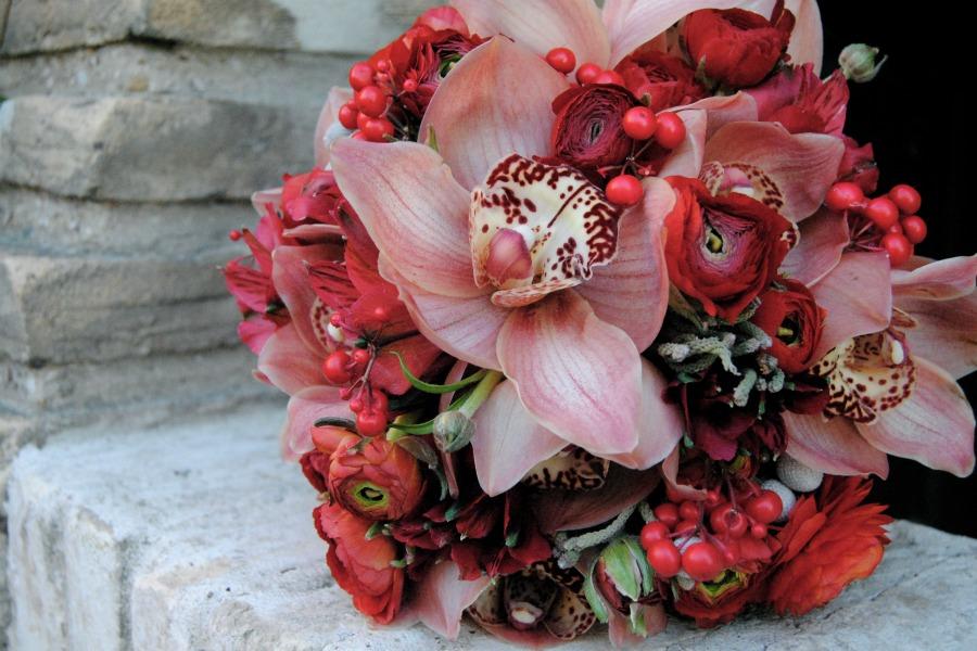 Ramo de novia rojo Mayula flores