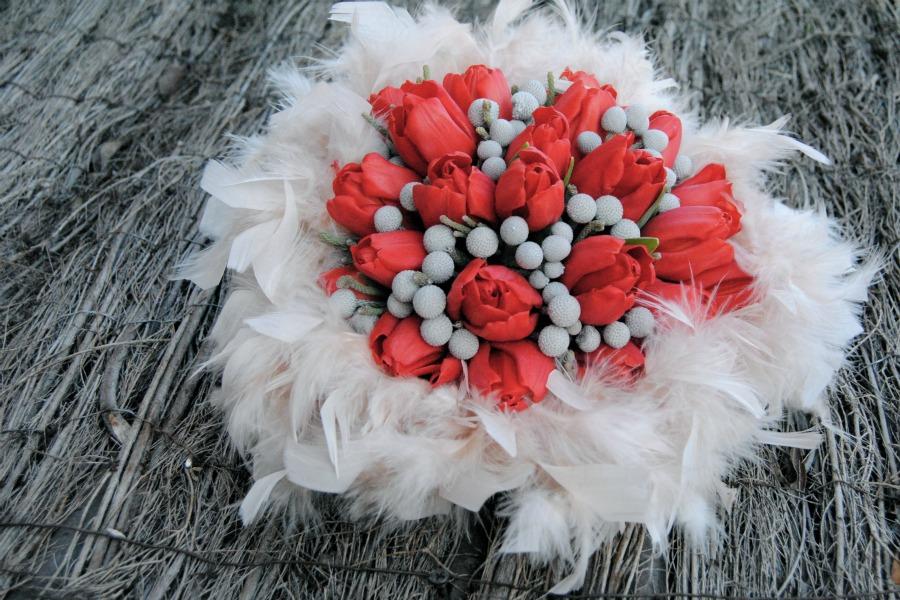 Ramo de novia tulipanes rojos Mayula flores