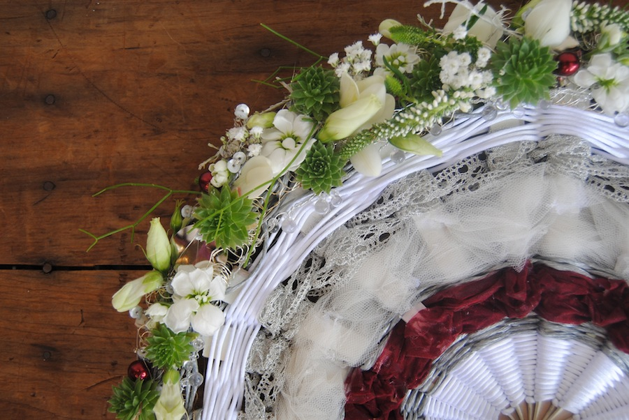 ramo de novia de abanico