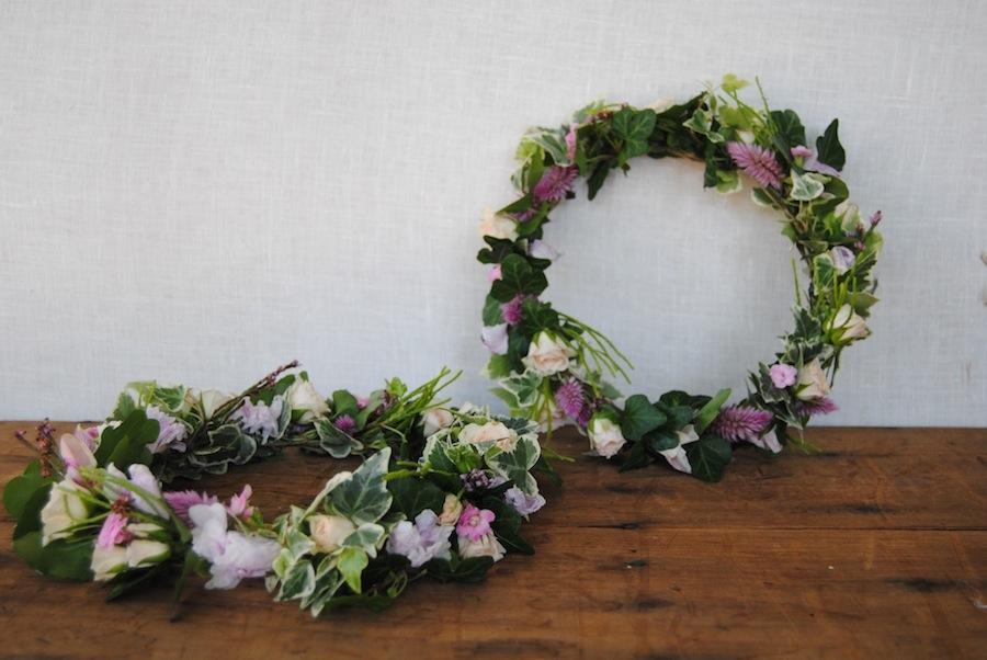 Coronas para niñas comunion flor natural