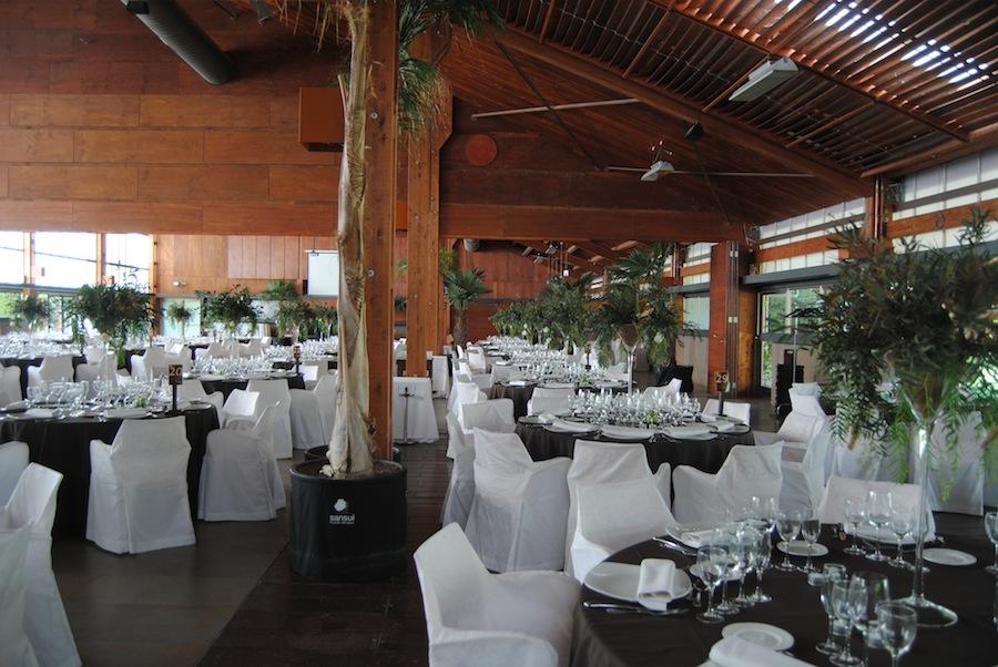 Decoración Sansui banquete de boda
