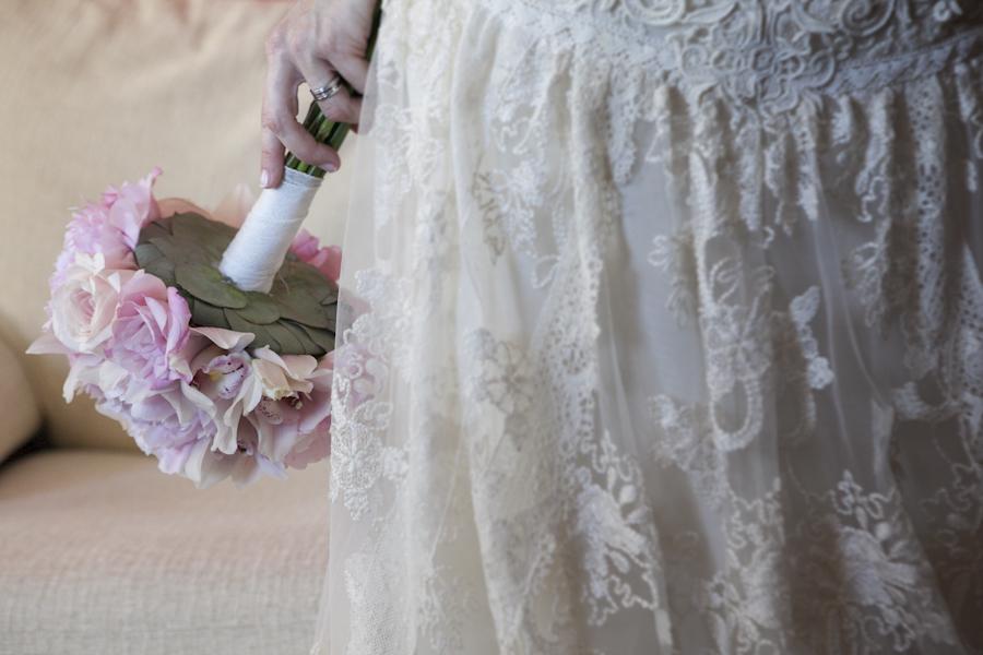 ramo de novia vintage muy romántico