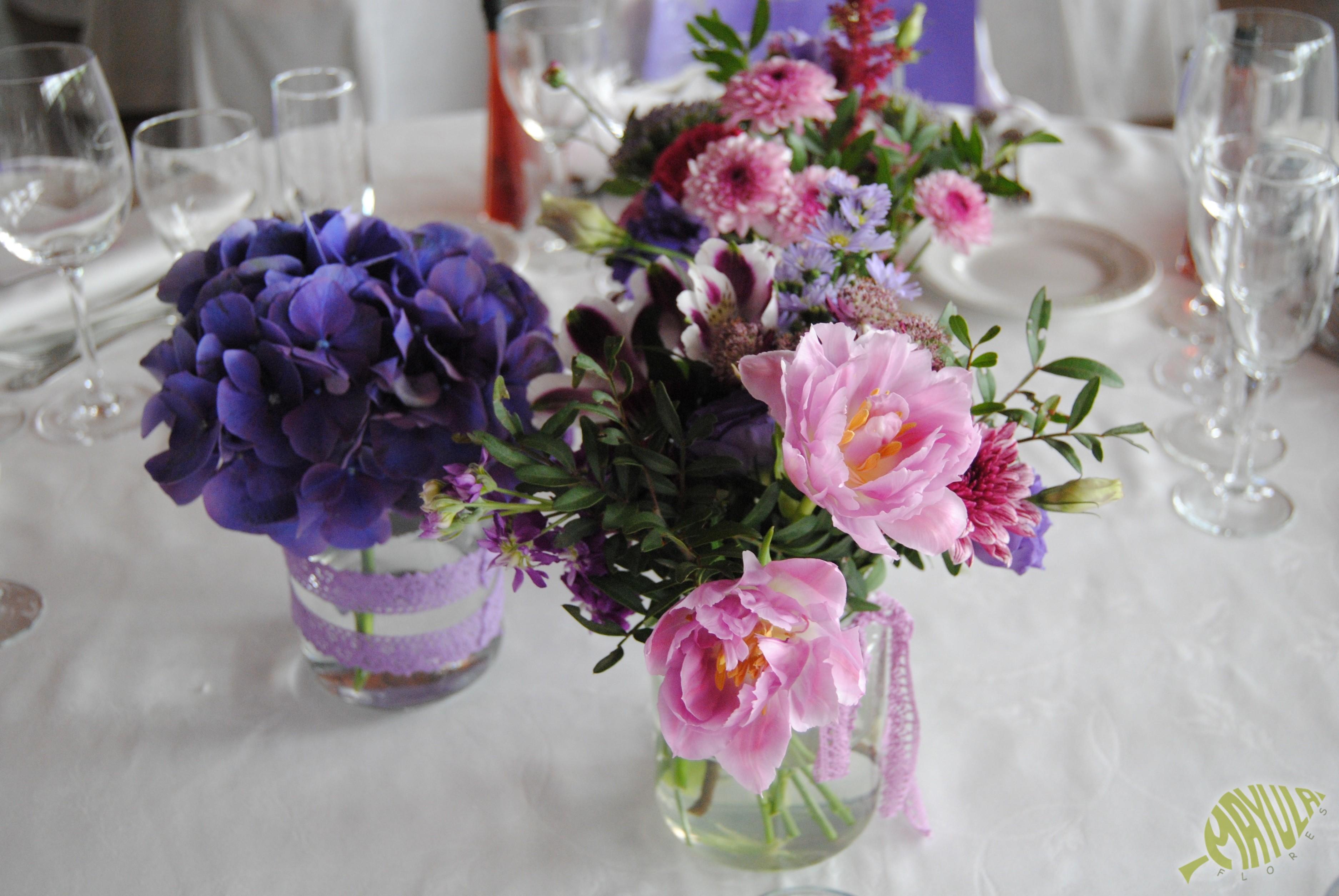 Decoración boda lila