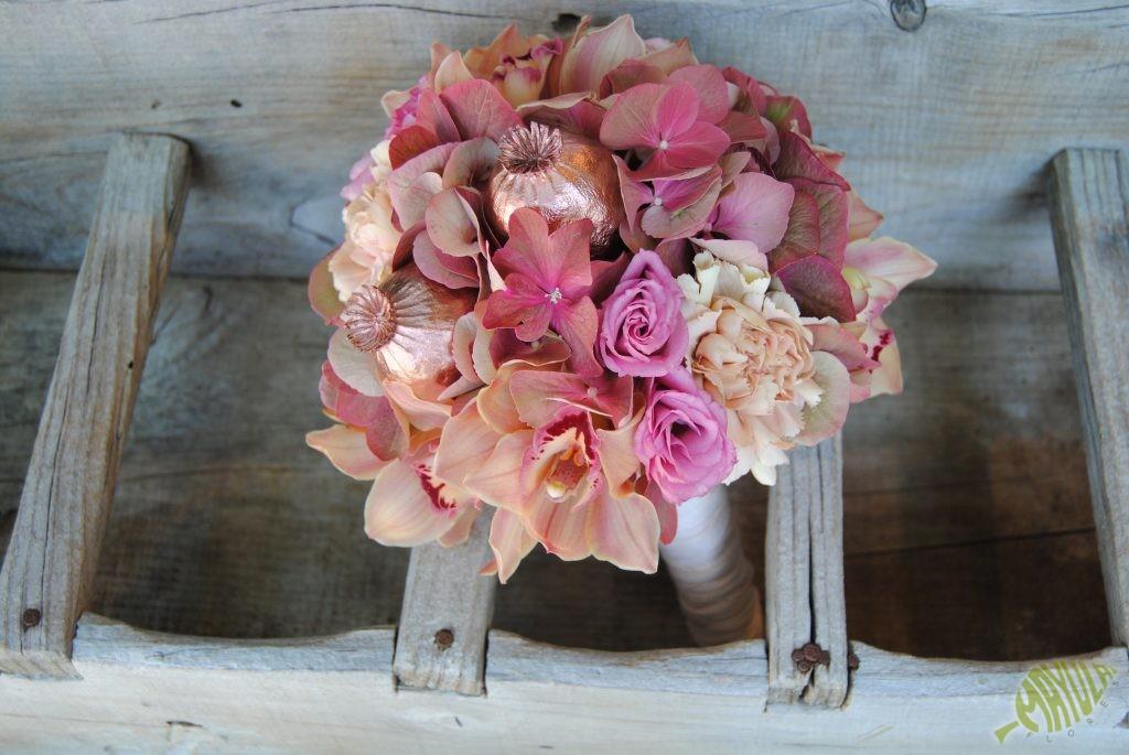 Bouquet color cobre