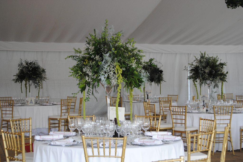 boda con verdes