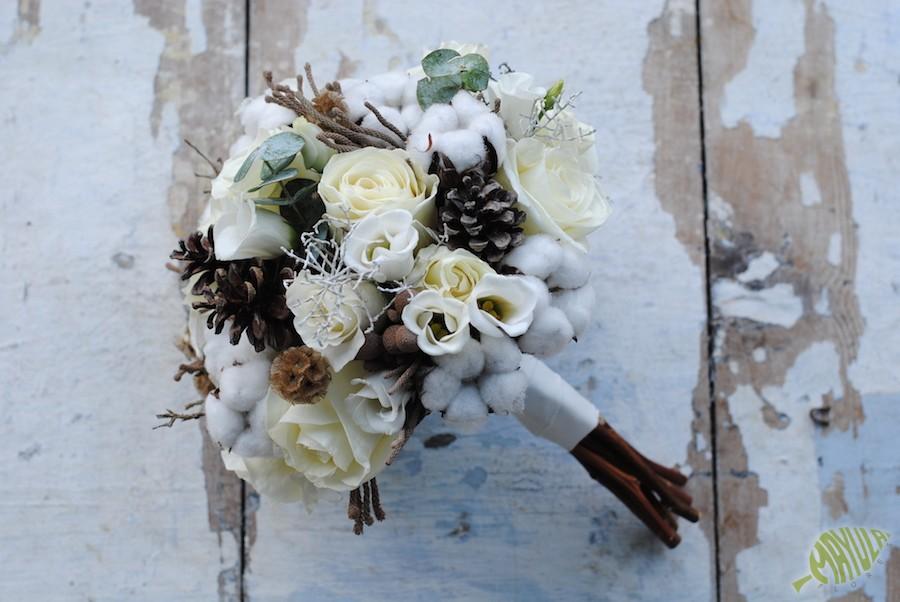 bouquet algodón