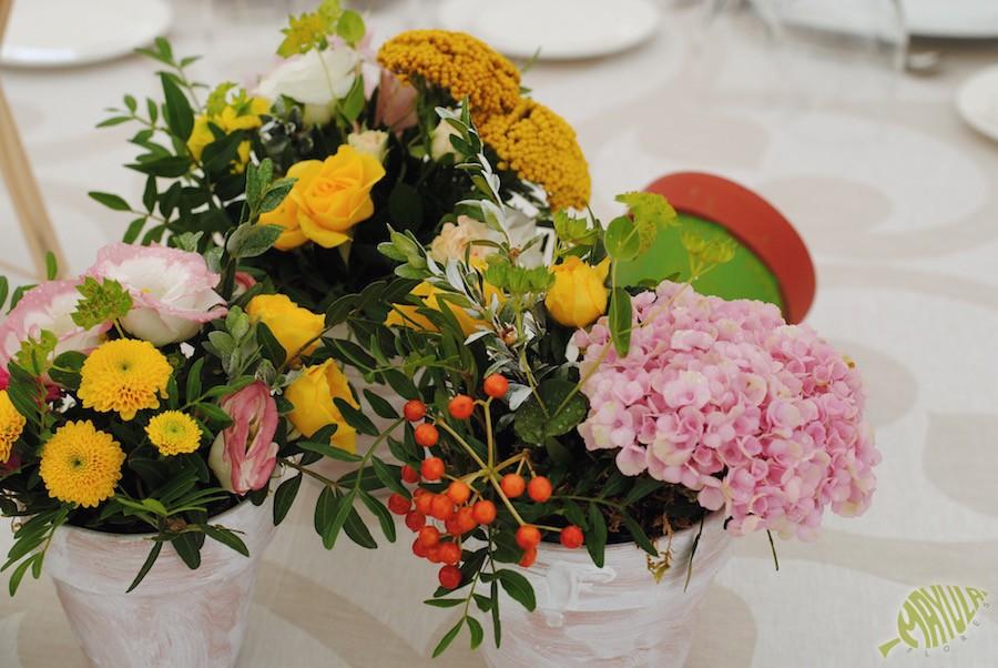 Palacio Villahermosa flores decoracion