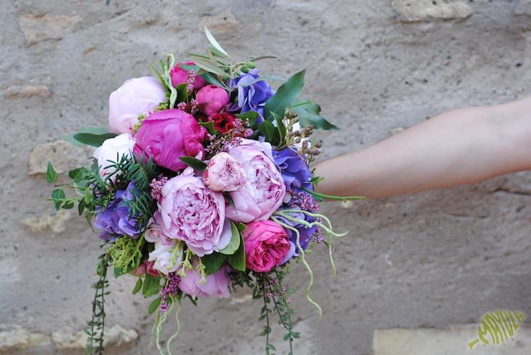bouquet peonias y hortensias