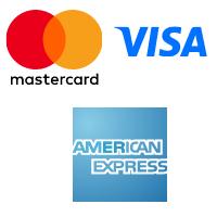 iconos de mastercard, visa y american express